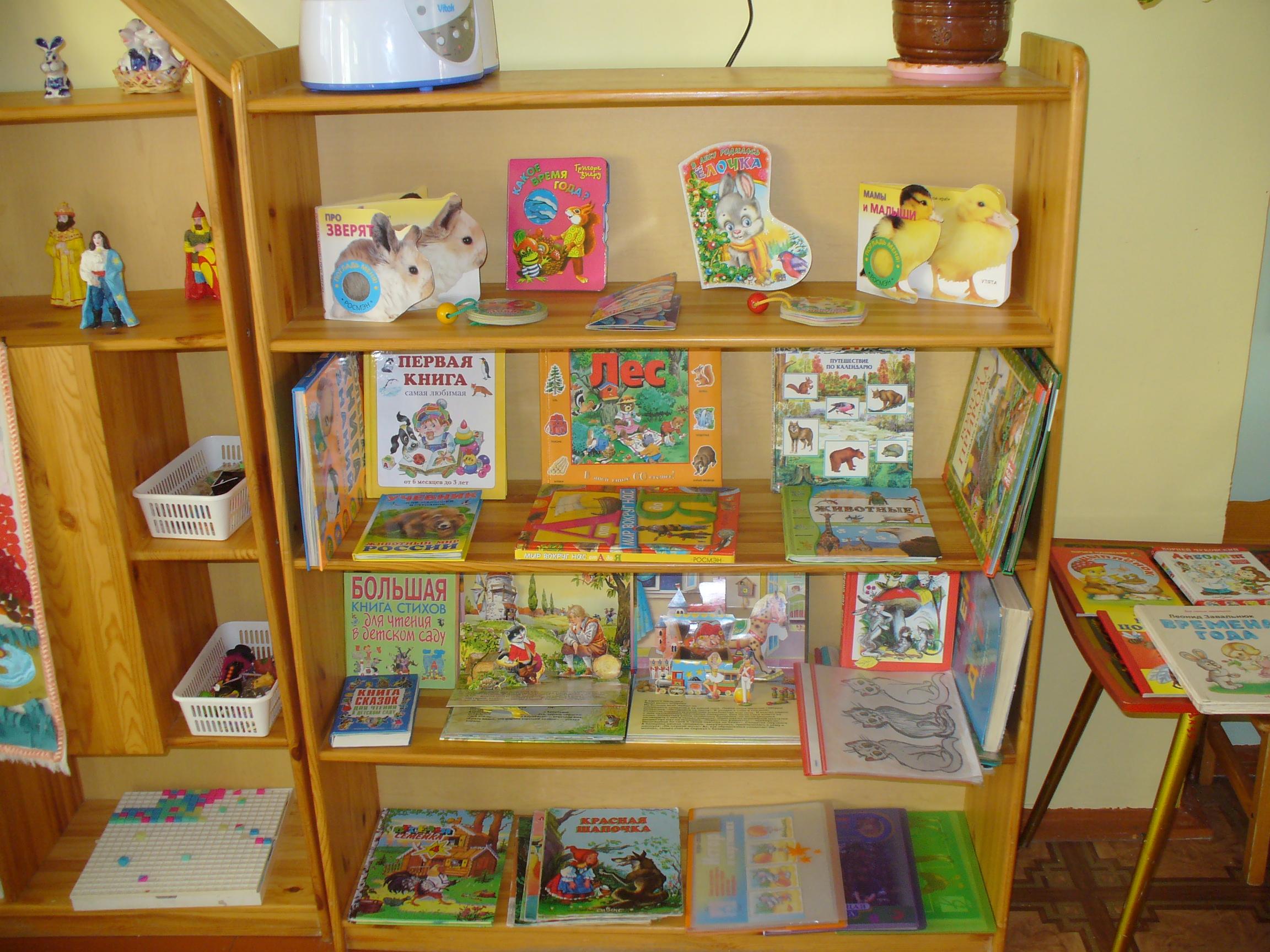 Книжный уголок в детском саду своими руками оформление